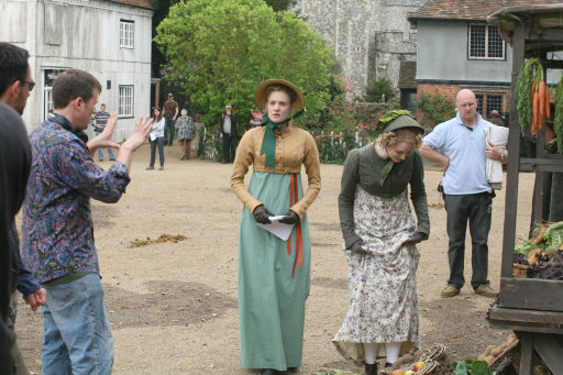 Filming in Chilham Square