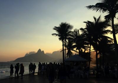Solnedgang på Ipanema beach