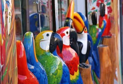 Souvenir papegøjer