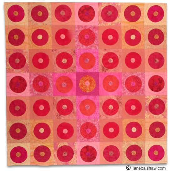 Circles quilt; janebalshaw.com. All rights reserved.
