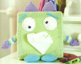 Monster tissue box cover