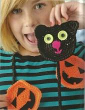Crochet Black Cats and Pumpkins