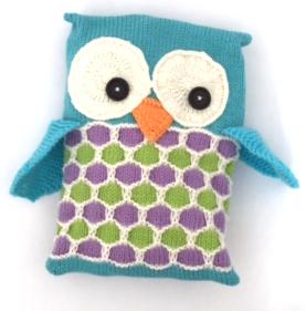 knitted owl pj case jane burns