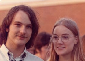 Rich and his sister Vesta, high school graduation, 1972