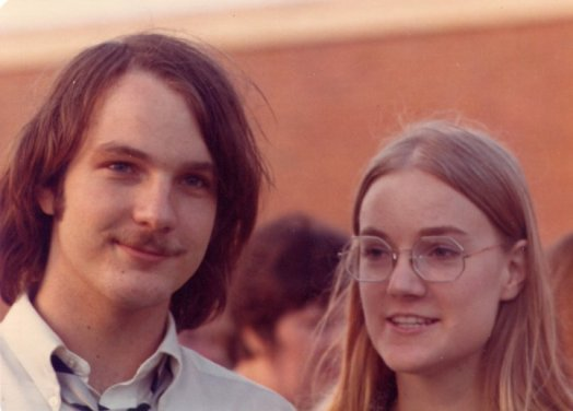 Rich and his sister Vesta, high school graduation, 1972