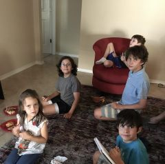Great niece and nephews: Rena, Abram, Asher, Aden, Khalil