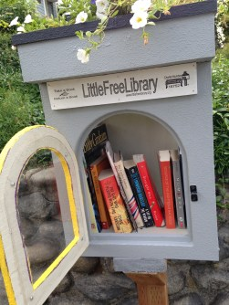I took a tour around Seattle, stuffing the little free libraries with copies of my first book, Scourge of the Righteous Haddock, available on Amazon.