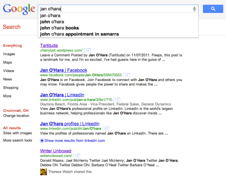 Jan O'Hara Google Search
