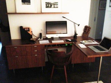 The workspace of Frances Kazan