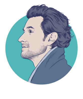 A polished author portrait
