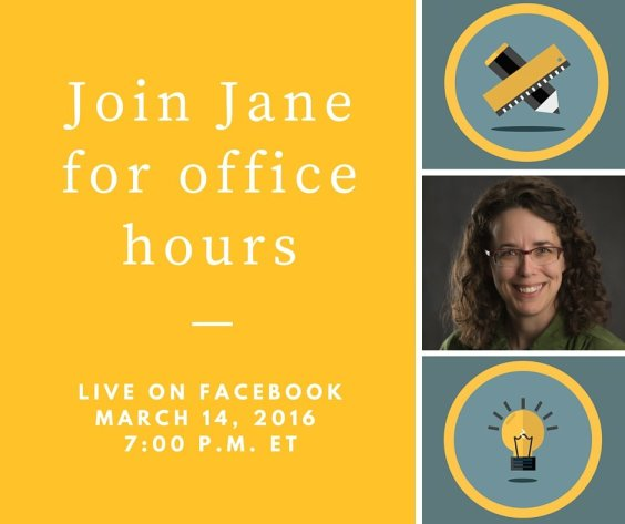 Jane's Facebook office hours