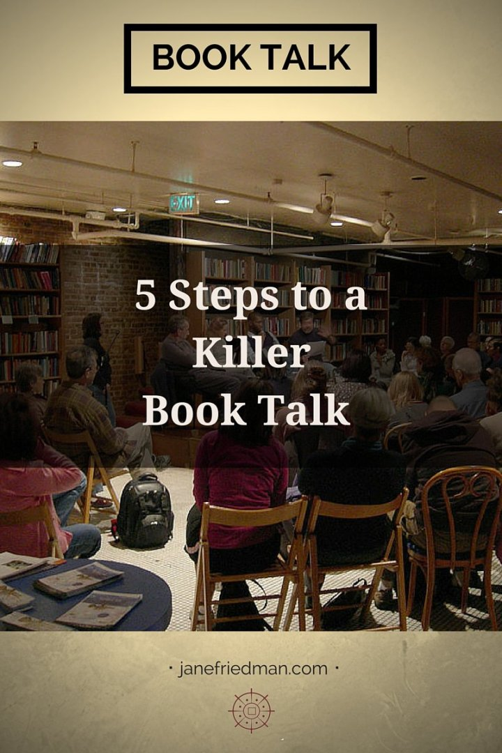 """Kate Raphael on prepping for a great book talk: """"An engaging talk can get you invited to be on panels or radio shows. That's happened to me a couple times. But it takes as much work as writing a guest blog or an op-ed."""""""