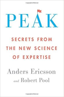 The cover of Peak: Secrets from the New Science of Expertise