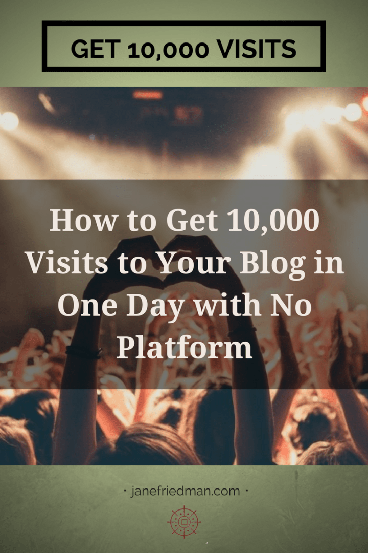 There are specific steps you can take to have a wildly successful piece of content, right out of the gate, with no existing online platform. And I have a case study to prove the point: the story of my partner, Mark Griffin, who scored more than 10,000 visits in a single day due to a single blog post. Here's how it happened.