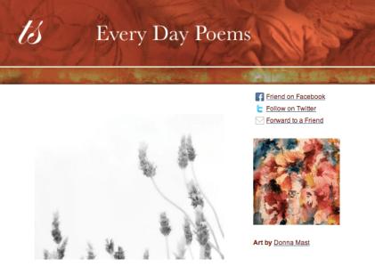 poem a day newsletter