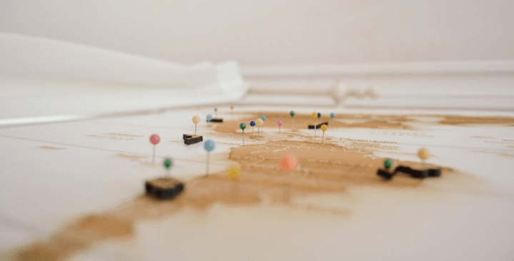 map and pins