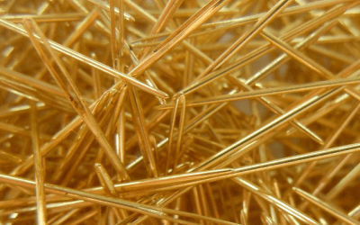 Glorious gold-plated needles!