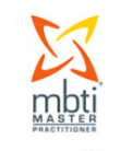 The logo indicating status as an MBTI master practitioner