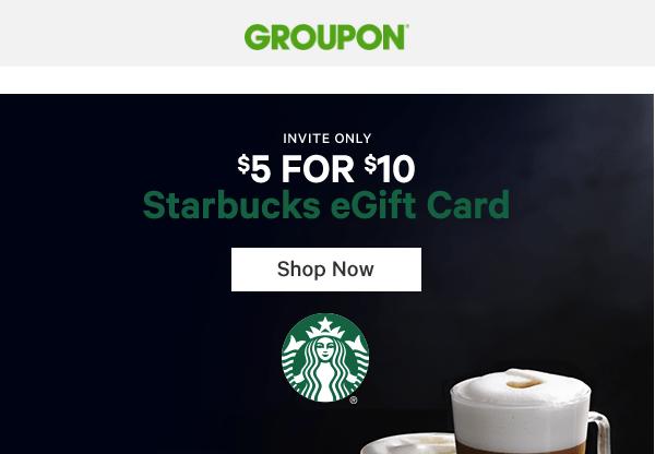 Starbucks Deal: Invitation Only