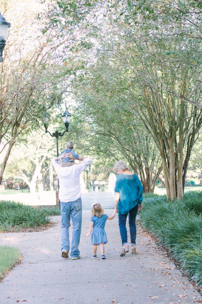 Grandparents walking with grandchildren, Pecan Park New Territory
