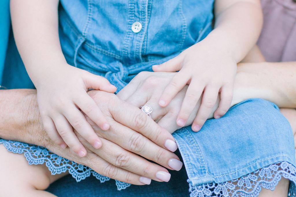 Three generations hands