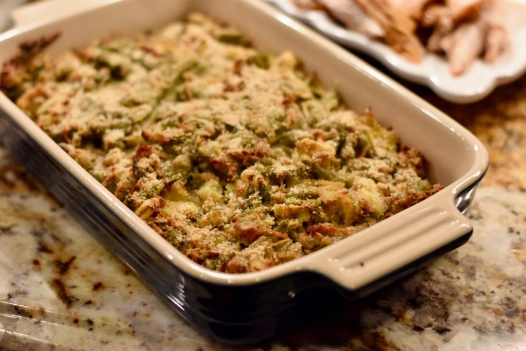 Greenbean artichoke casserole