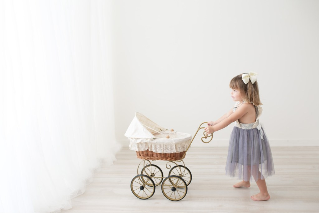 Girl with baby carriage, Amy Osborne Photography