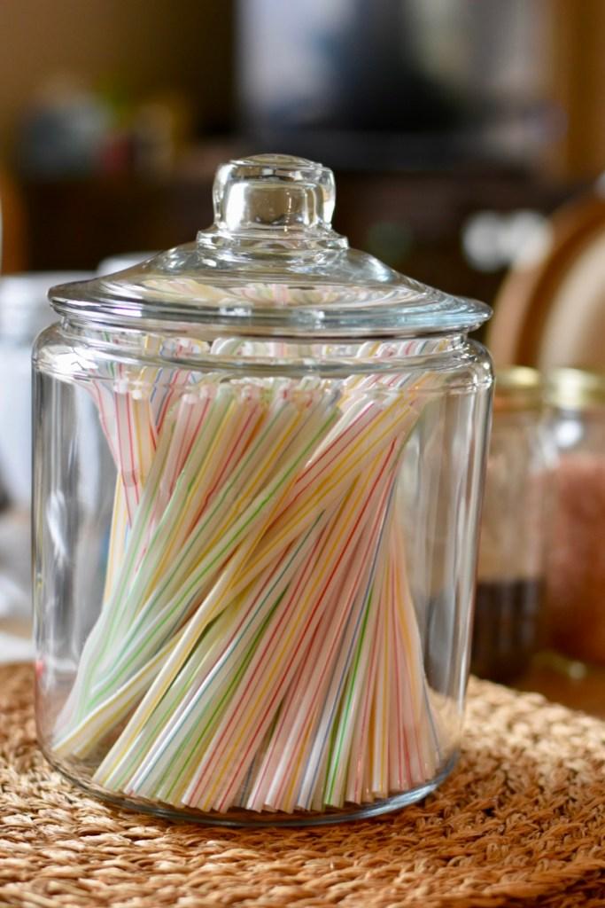 Anchor hocking jar for straws