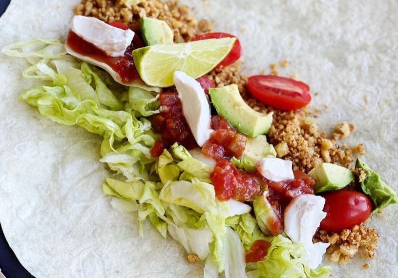 """""""Meat"""" Taco With Nuts"""