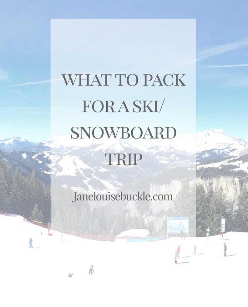 What to pack for a ski/snowboard trip
