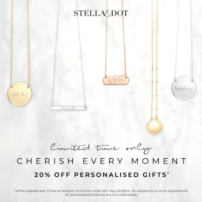 Sale alert – 20% off personalised collection