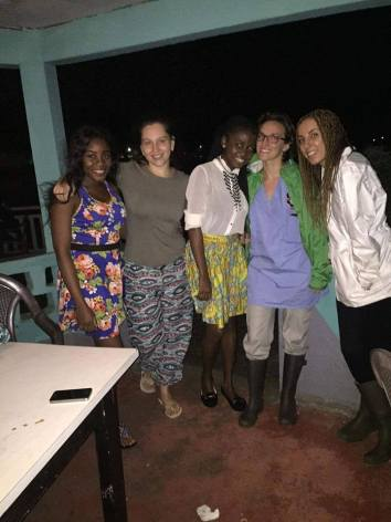 Fellow volunteers in Limbe