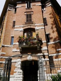 Balcony on tree lined streets