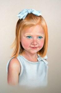 Claire, pastel