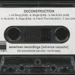 Deconstruction Advance Cassette Side 1