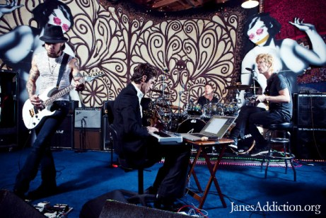 Jane's Addiction in the studio, March 2010