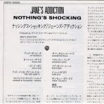 Nothing's Shocking Japanese Lyric Sheet