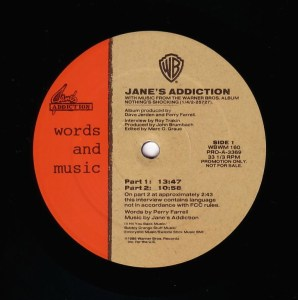 Words and Music LP Label Side 1