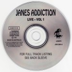 Jane's Addiction Love Vol. 1 Disc