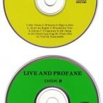 Live And Profane 2CD Alternate Discs