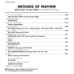 Methods of Mayhem Japanese Inside