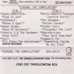 Scream Promo Cassette Insert