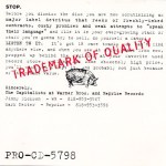 Trademark of Quality (1992) Cover