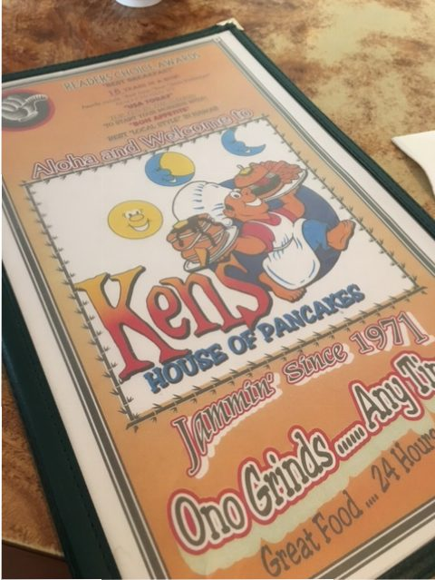 Picture of Ken's menu, Hilo, Hawaii