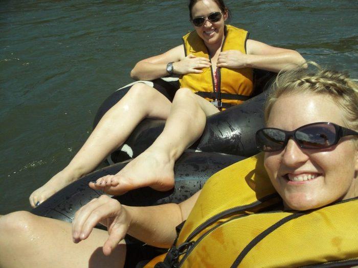 Tubing on the Rio Napo