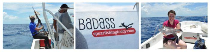 Badass spearfishing, Cozumel, Mexico, cruise ship travel