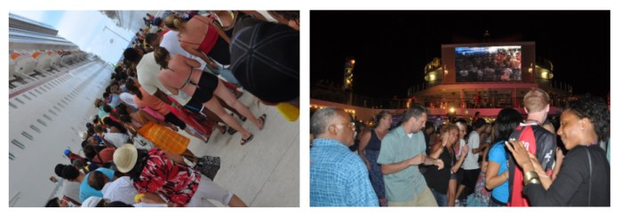 people, crowds, cruise ship travel