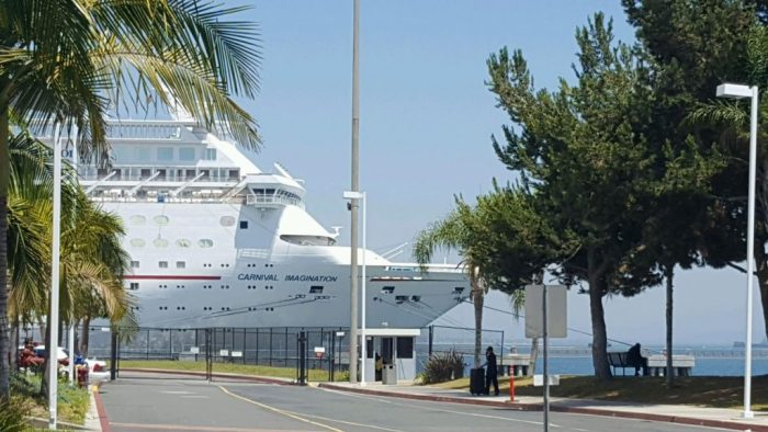 Carnival cruise ship at Long Beach, California, cruise ship travel