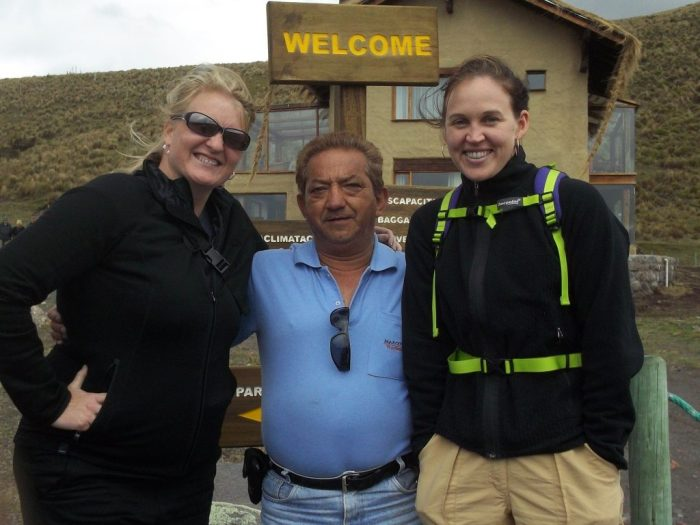 Bus driver and tourists in Ecuador, tour group challenges