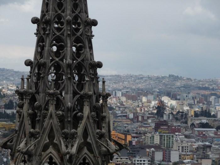 Quite Ecuador church steeple city views